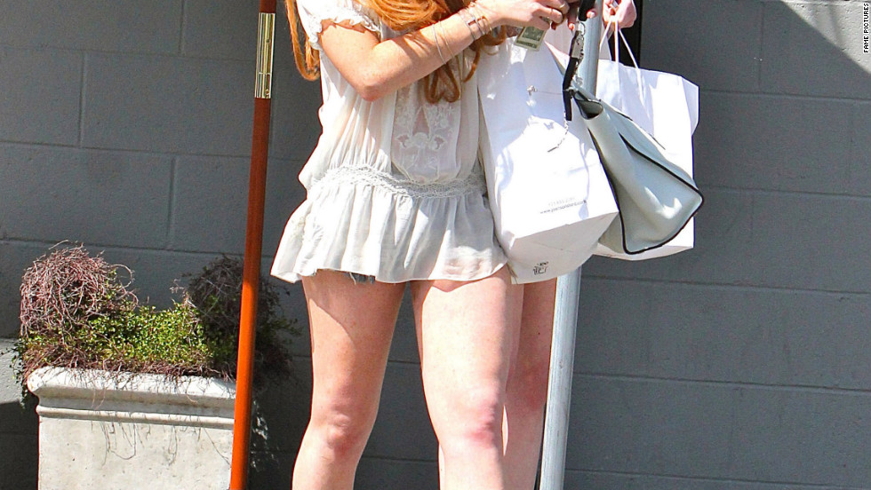 Lindsay Lohan goes out for lunch in West Hollywood.