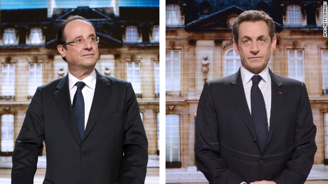 Social Democrat Francois Hollande, left, and incumbent Nicolas Sarkozy both want to be the next president of France.