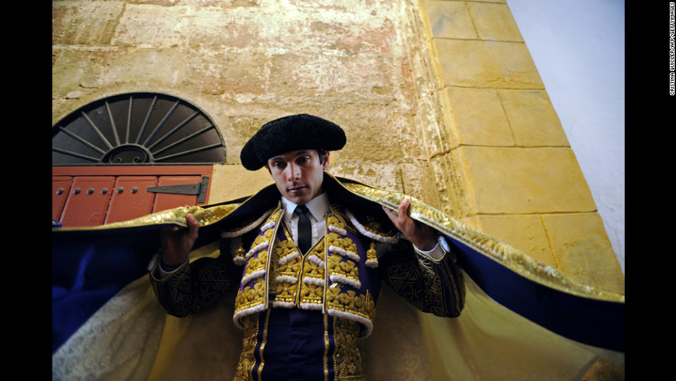 French matador Sebastian Castella prepares for a bullfight at the Maestranza Bullring in Seville, Spain, on Wednesday.