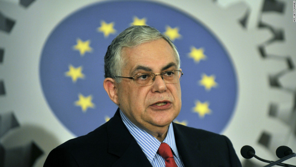 Greek Prime Minister Lucas Papademos is an unelected politician who was sworn in as head of an interim government on November 11, 2011, after four days of political wrangling. His mandate was to implement Greece's second bailout package.