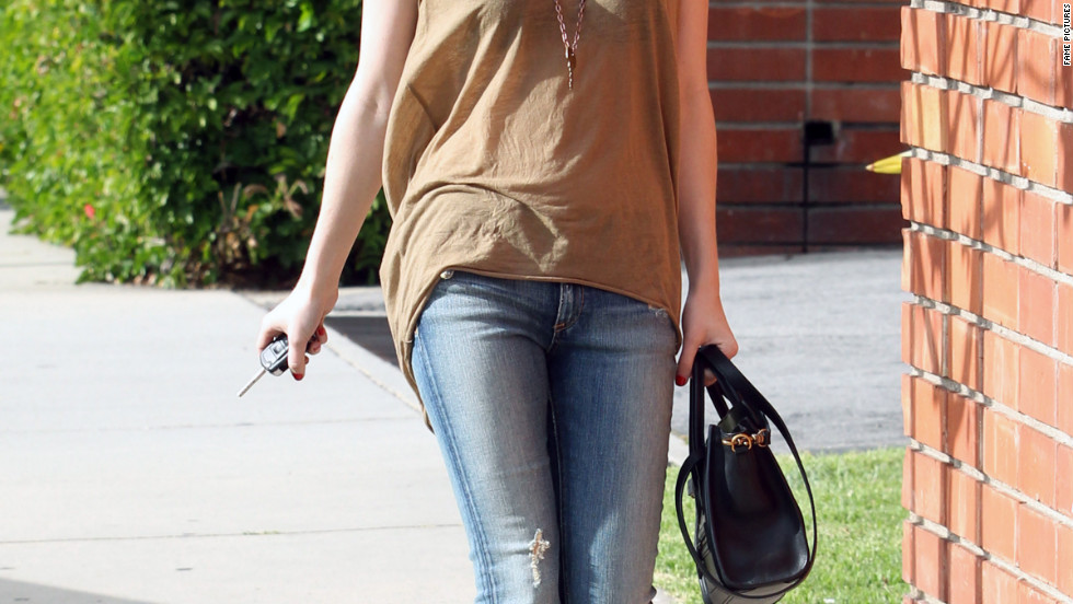 Emma Roberts leaves a nail salon in West Hollywood.
