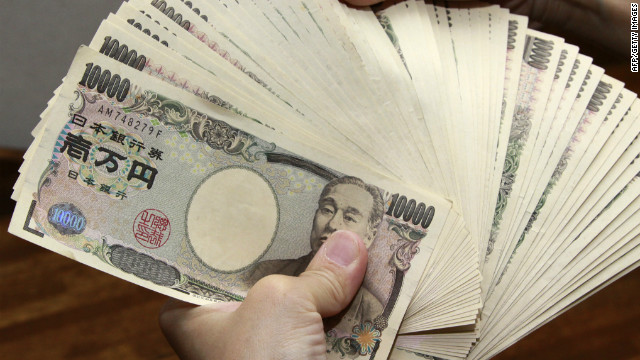 Japan's yen has weakened by 15% against the U.S. dollar since November following Tokyo's monetary policy expansion