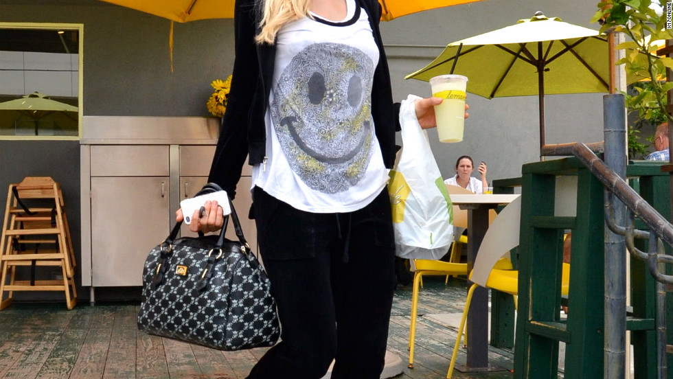 Paris Hilton grabs a beverage in West Hollywood.