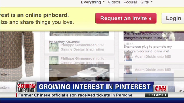 Pinterest: Virtual pinning board