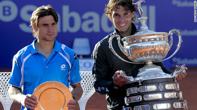 Rafael Nadal and David Ferrer played out a tight match in the final of the Barcelona Open on Sunday