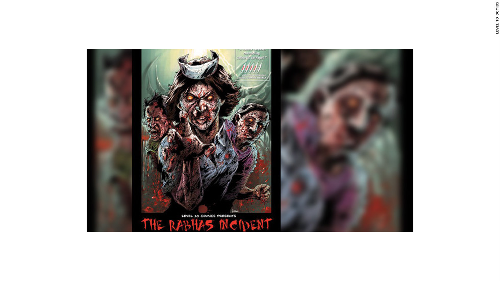 "Pictured here is the third issue of ""The Rabhas Incident"" comic books by Level 10 Comics. The series focuses on a virus that turns the citizens of Bangalore, India, into savage zombies and an agent who tries to find a cure and protect survivors. Harsho Mohan Chattoraj is the main comic artist."
