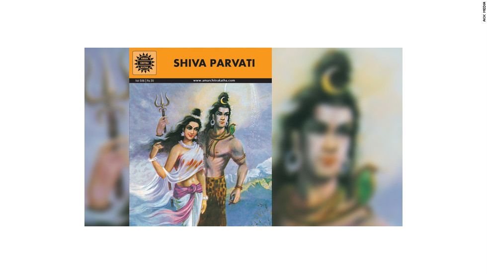 "The Amar Chitra Katha ""Shiva Parvati"" title follows the Hindu god Shiva and his consort Parvati and narrates their romance, marriage and children."