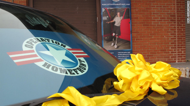 Operation Homefront provided this SUV to an airman and his wife, who are expecting their first child in June.