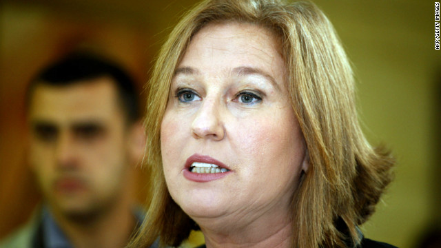 Zipi Livni former Israeli opposition leader speaks to the press moments before handing in her resignation from the Knesset, Israel's Parliament on May 1, 2012 in Jerusalem. AFP PHOTO/GALI TIBBON (Photo credit should read GALI TIBBON/AFP/GettyImages)