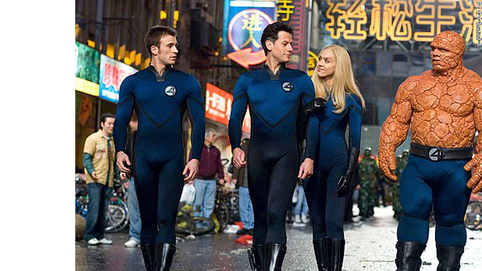 "Last year's ""Captain America"" wasn't Chris Evans' first time battling evil in a form-fitting blue suit. Evans, Ioan Gruffudd, Jessica Alba and Michael Chiklis took on Victor von Doom (Julian McMahon) in 2005's ""Fantastic Four."" They teamed up again in the 2007 sequel to defeat the Silver Surfer."