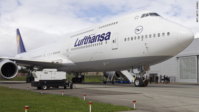 Lufthansa received the first Boeing 747-8 Intercontinental airliner on May 1.