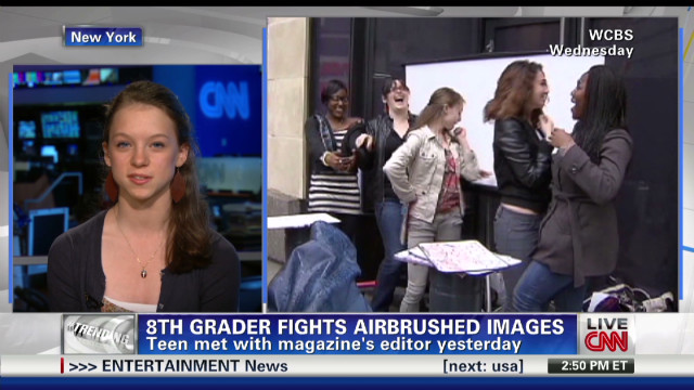 8th grader fights airbrushed images