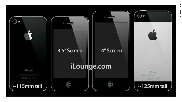 Apple news site iLounge released these images of what a longer iPhone, on the right, might look like.