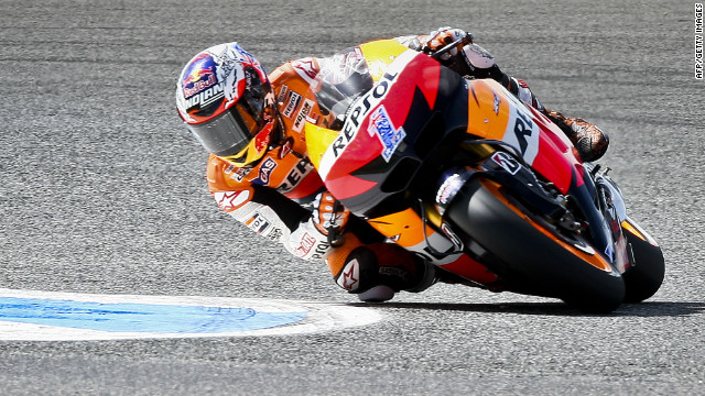 Australian motorcycle rider Casey Stoner is second in the MotoGP standings after two races this season.