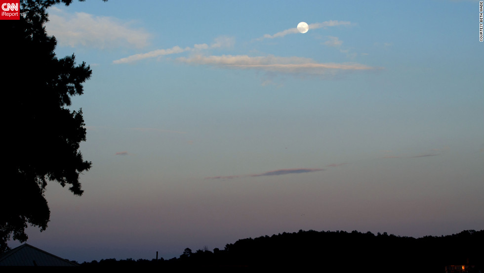 "Beth Wade of Lake Wylie, South Carolina, took ""test"" photos of the moon in 2012."