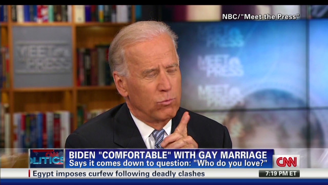 Biden OK with same-sex marriage