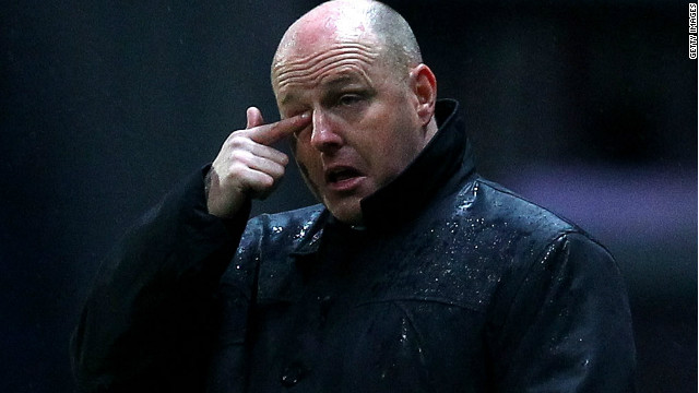 Steve Kean's Blackburn were relegated from the English Premier League on a rainy night at Ewood Park