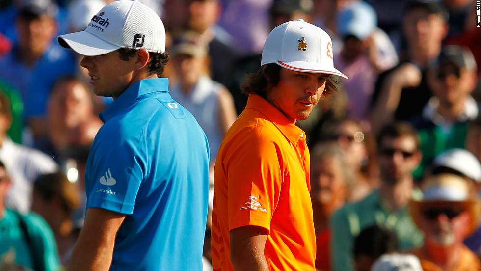 McIlroy (left) won at Quail Hollow in 2010 for his first PGA Tour victory, but lost out to Fowler in the rookie of the year award.