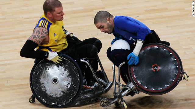 Wheelchair rugby is a full contact sport