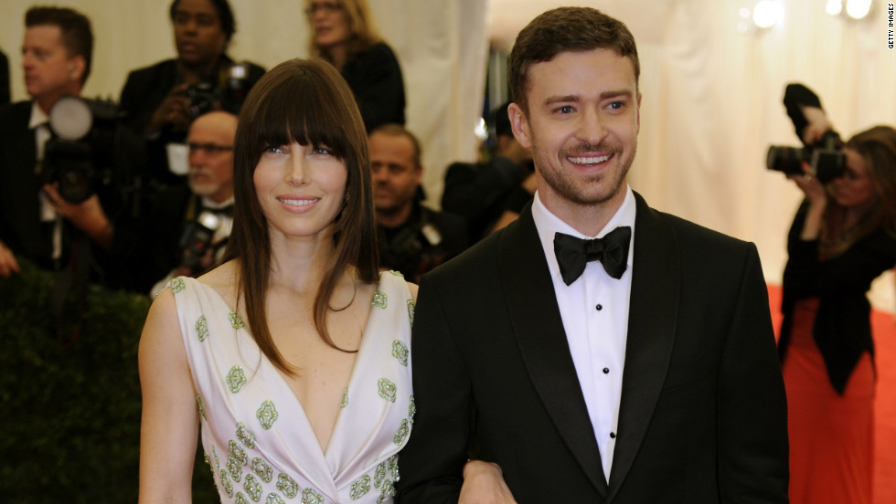 Jessica Beil and Justin Timberlake