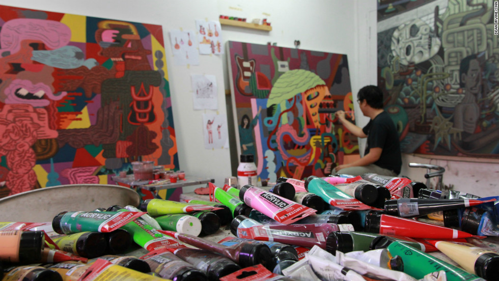 Louie Cordero has been conjuring up canvasses and sculptures in his Manila studio for over ten years.