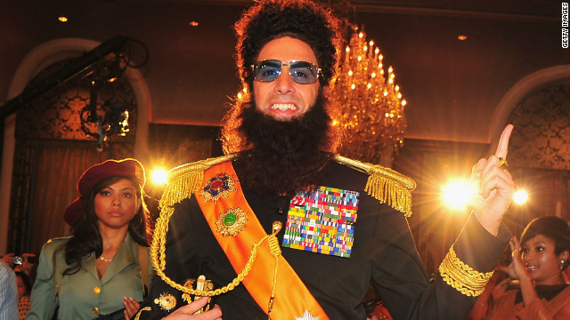 Sacha Baron Cohen as 'The Dictator' Press Conference at The Waldorf-Astoria on May 7, 2012 in New York City