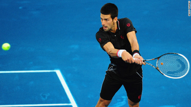 World No. 1 Novak Djokovic got his first taste of the blue clay at the Madrid Masters on Tuesday