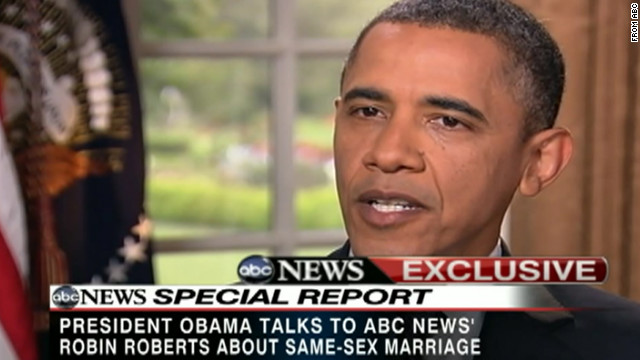 President Obama explains his position on same-sex marriage