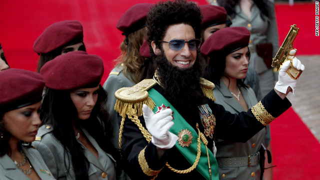 "Sacha Cohen arrives in London for the UK premiere of ""The Dictator."" Obeidallah says Cohen uses the worst Arab stereotypes."