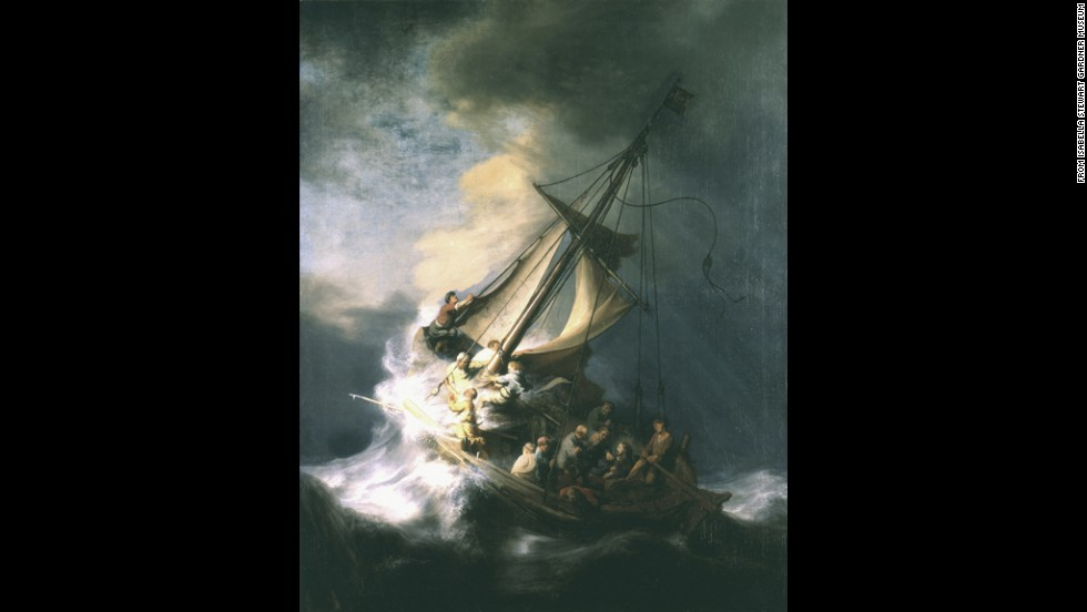 """The Storm on the Sea of Galilee,"" the only seasscape painted by Rembrandt."