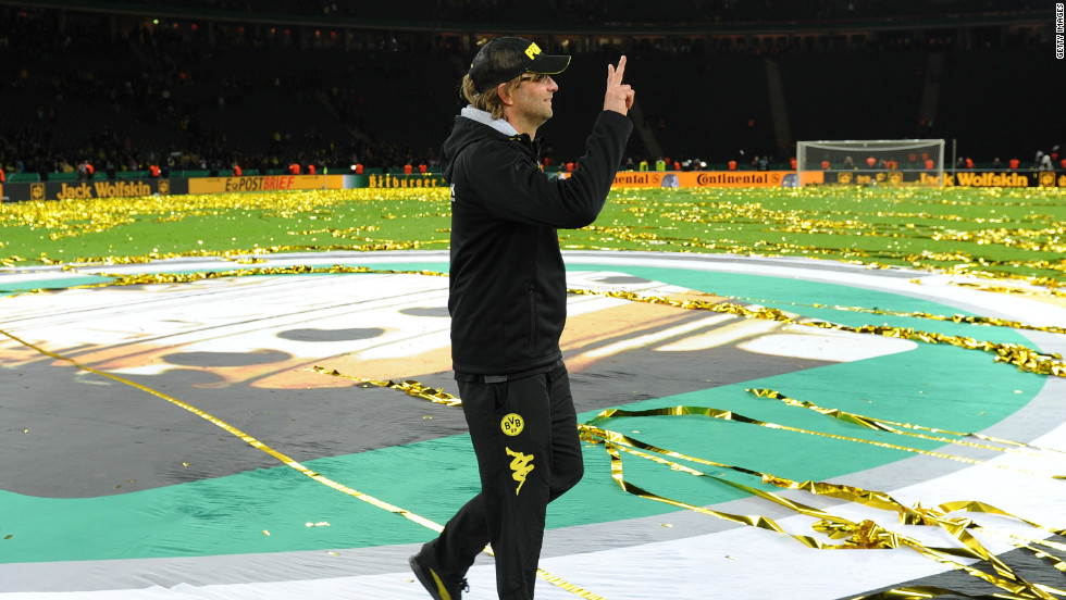 Borussia Dortmund were crowned champions of Germany for a second year in a row, with Jurgen Klopp's side finishing eight points ahead of Champions League finalists Bayern Munich.