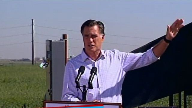 Mitt Romney delivers a stump speech - file photo