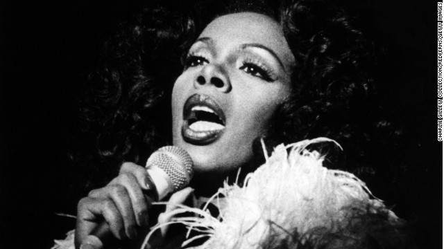 UNSPECIFIED - JANUARY 01:  Photo of Donna SUMMER; Singing live on stage.,  (Photo by Charlie Gillett Collection/Redferns)