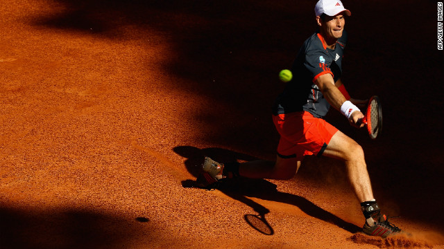 Andy Murray lost in the third round of the Roman Masters. He later blamed a back injury.