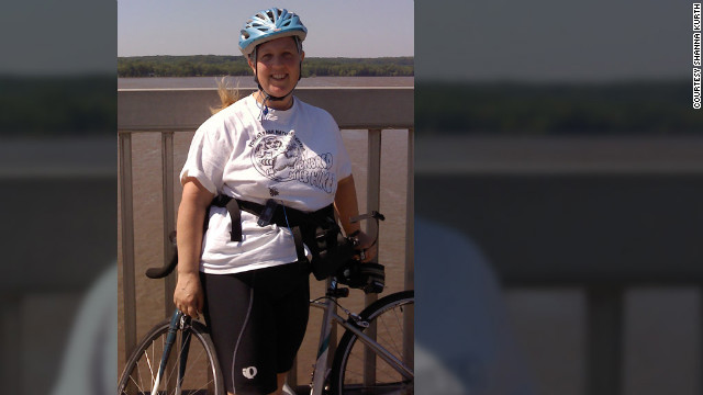 Shanna Kurth's 25-mile bike commute to work takes two hours, requiring extensive planning on her part several times a month.