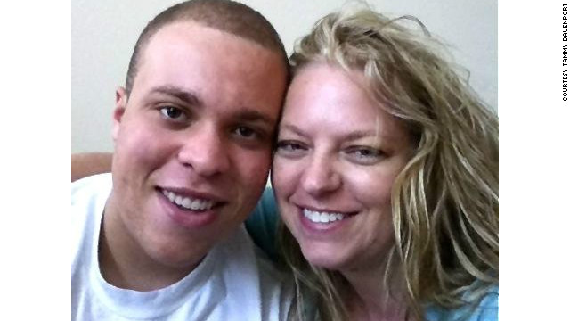 Garret Davenport, left, and his mother Tammy both have hemophilia.