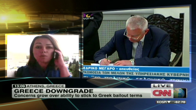 Greece credit rating downgraded