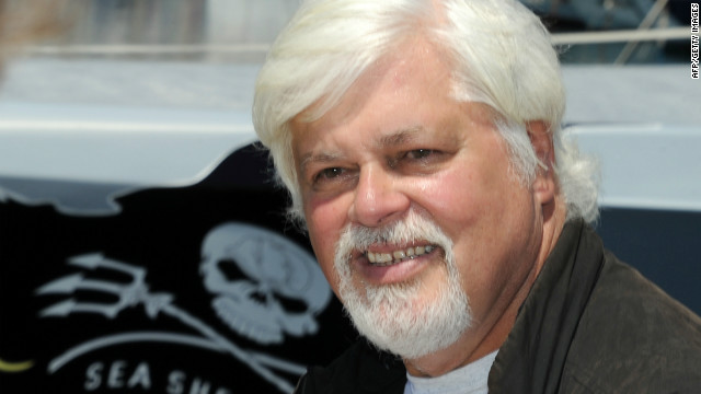 Paul Watson, pictured here in 2011, was detained at Frankfurt airport on May 13.