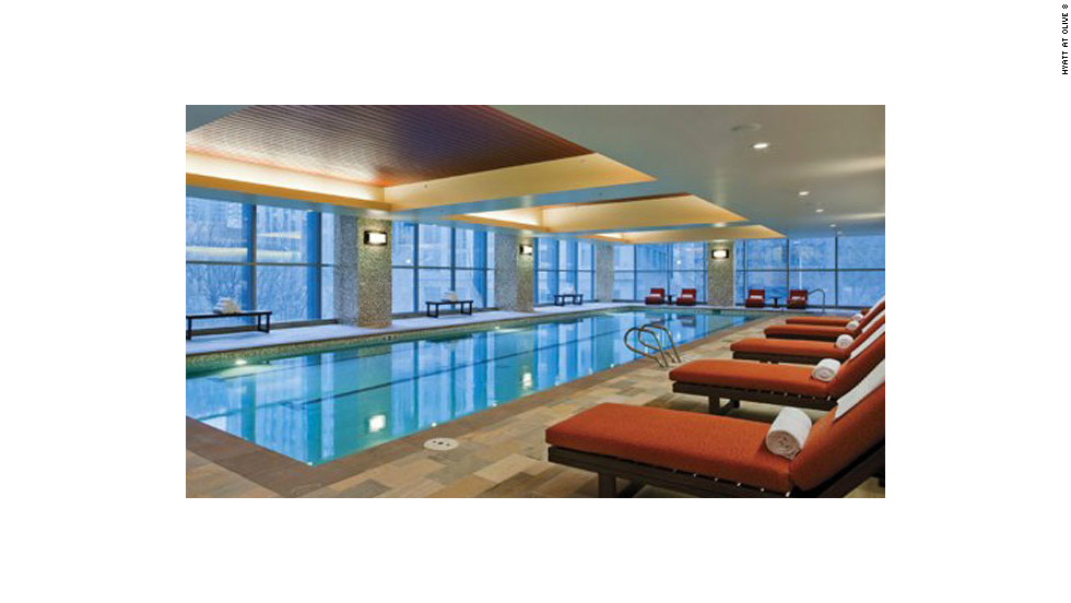 The Hyatt's swimming pool and spa facilities are a handy place to relax, says Patel.