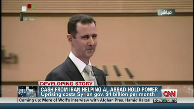 Iran cash helping al-Assad hold power