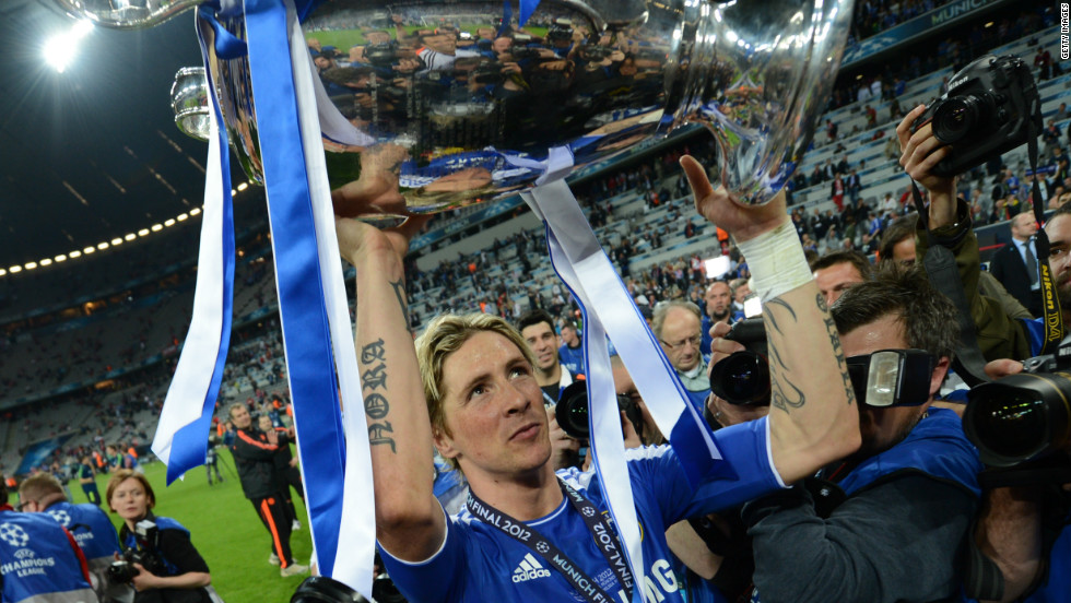 Torres struggled to justify his price tag at Chelsea, but lifted the European Champions League trophy in 2012 -- his biggest club honor -- after scoring a key goal in the semifinal against Barcelona.