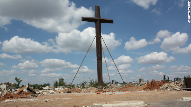 The cross from St. Mary's church, which withstood the destruction of the tornado, will soon be part of a small park.