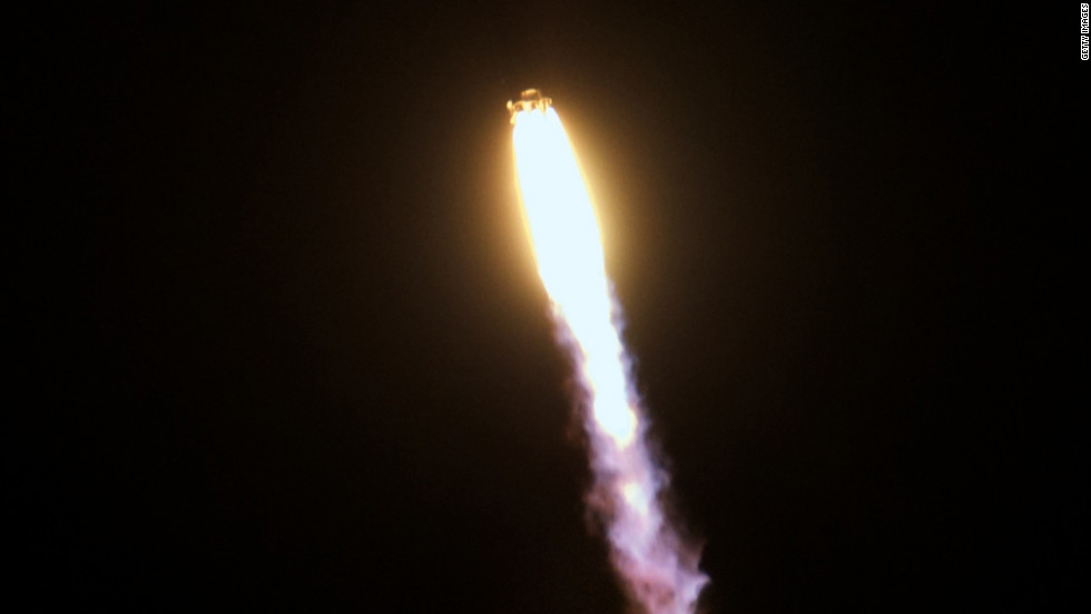 The Falcon 9 rocket launches on May 22 in Cape Canaveral.