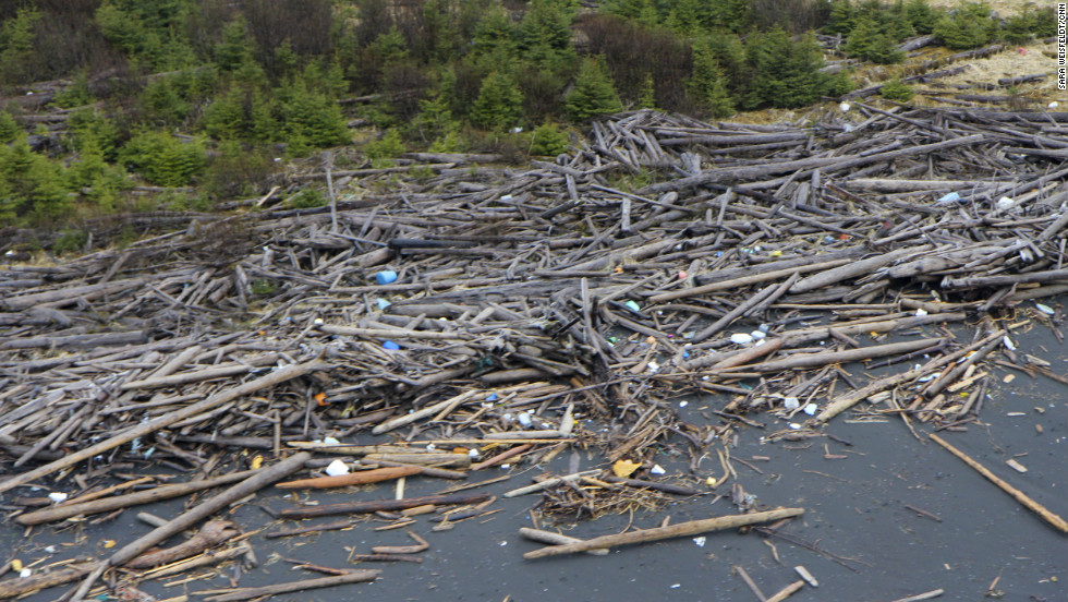 Japanese officials estimate up to 70% of the tsunami wreckage has sunk, but the rest, ranging in size from children's toys to a squid trawler sunk by the U.S. Coast Guard off Alaska in April, has been turning up off the coasts of the United States and Canada for more than a month. There are concerns that this trash could be tainted by radiation from the Fukushima nuclear disaster that followed the March 2011 quake. Tests on the first wave of tsunami debris have shown no abnormal levels of radiation. Still, much of it is toxic and potentially hazardous to the environment along the rugged Alaska coastline.