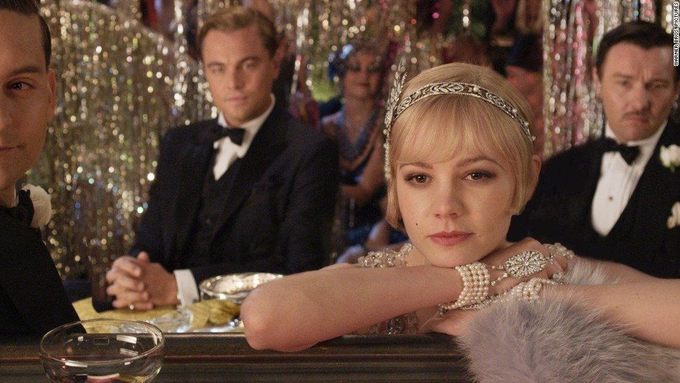 "<strong>""The Great Gatsby"":</strong> F. Scott Fitzgerald's classic Jazz Age novel is about a wealthy bootlegger, his old flame, her caddish husband and the trouble caused by their destructive relationships. It's been made into a movie several times, most recently a 1974 film starring Robert Redford and a 2013 film (pictured) with Leonardo DiCaprio and Carey Mulligan."