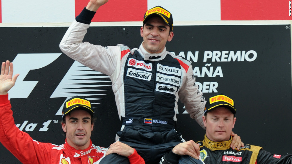 Pastor Maldonado became the first Venezuelan to win an F1 race at the Spanish Grand Prix earlier in May, ending Williams' eight-year wait for a victory.