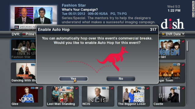 Dish Network is marketing a DVR that lets viewers skip TV commercials entirely, but broadcasters aren't happy about it.