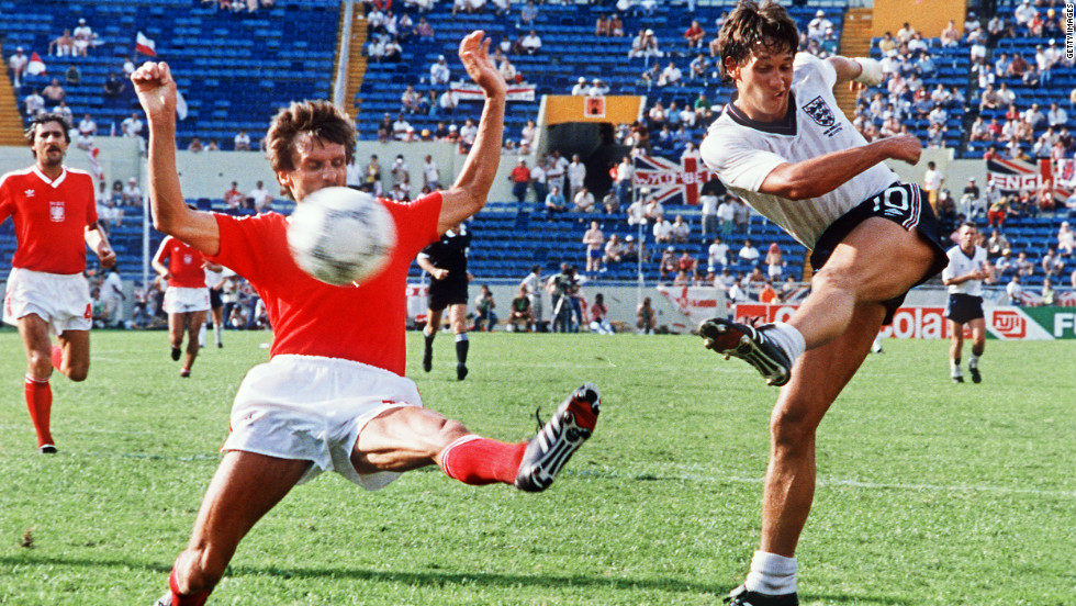 By the time Poland reached Mexico '86, their fourth World Cup in a row, the team was a dying force. England destroyed the Poles, with striker Gary Lineker scoring a hat-trick in the group stage.
