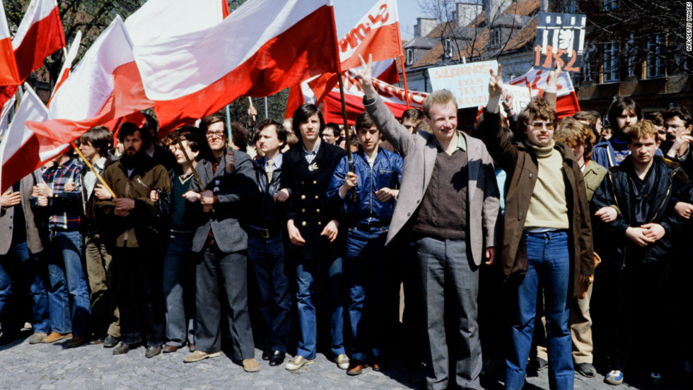 Back in Poland the political situation was changing too. Poland's communist government was being challenged for the first time by a new labor movement, Solidarity. Solidarity would play a crucial role in overthrowing communism seven years later.