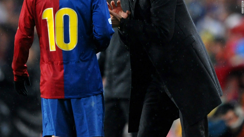 "Guardiola's dedication to an approach known as ""tiki taka"" -- a fluent passing style based around dynamic movement -- was immediately evident, as players like Xavi and Andres Iniesta, both World Cup winners with Spain in 2010, flourished. Guardiola also maximised the use of a young striker called Lionel Messi, who would go on to break all records."